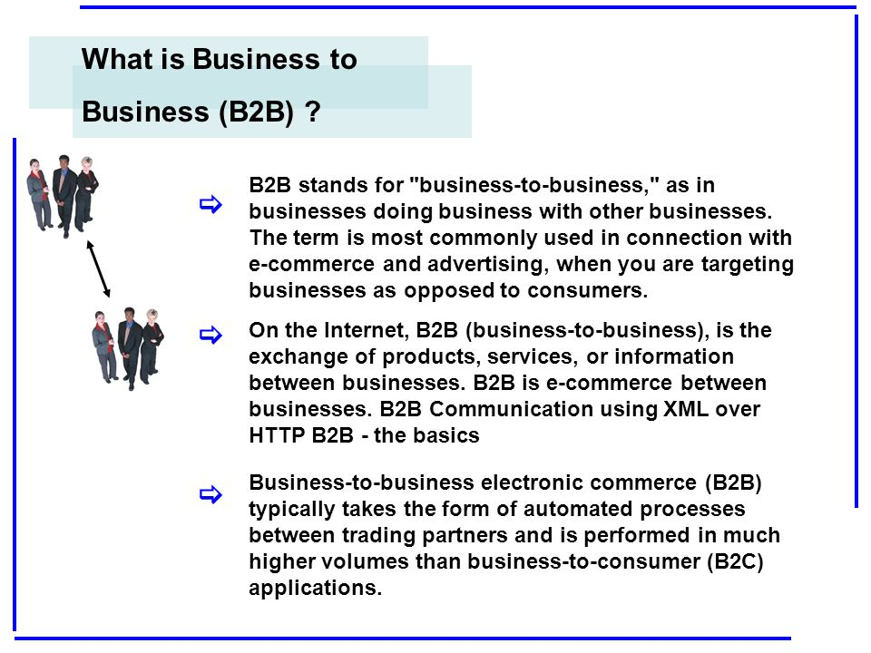 What is Business to Business (B2B) [ [ [